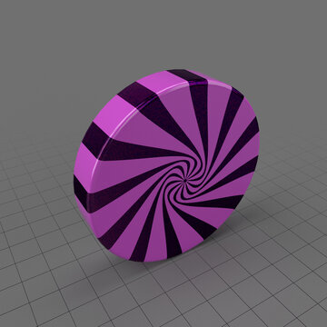 Purple swirl candy
