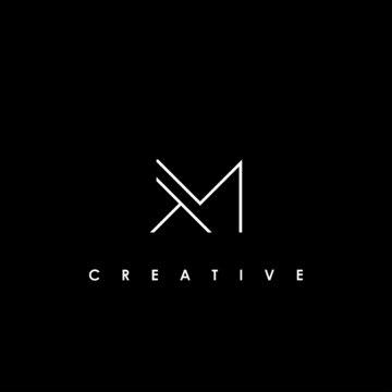 TM Letter Initial Logo Design Template Vector Illustration