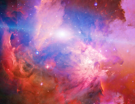 Galactic Space Elements of this image furnished by NASA. 3D rendering