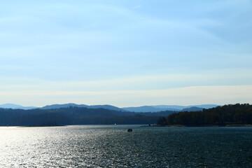 polskie góry, Bieszczady, widok z tamy, Solina