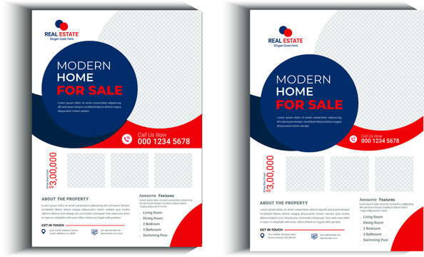 House For Sale By Owner Real Estate Flyer, Real Estate Flyer Design fully editable design,