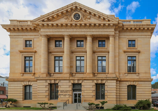 Deadwood, South Dakota, USA - March 2017. US Post Office annd Court House building.