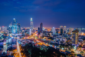 Nightscape of Ho Chi Minh City.