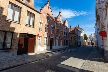Wall Mural - Traditional medieval architecture in the old town of Bruges (Brugge), Belgium