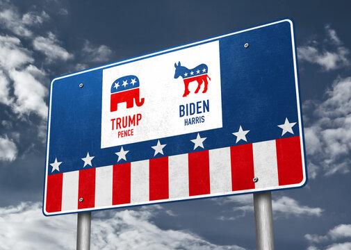 Trump versus Biden Presidential Election 2020 - Washington, October 15, 2020