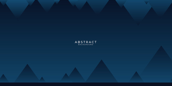 Modern dark blue abstract presentation background with business corporate concept and triangle mountain. Vector illustration design for presentation, banner, cover, web, flyer, card, poster, game