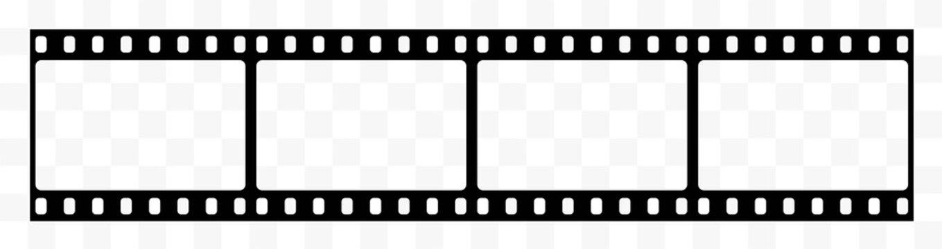 Film strip.Filmstreifen.Film strip icon.Video tape photo film strip frame vector.Vector illustration