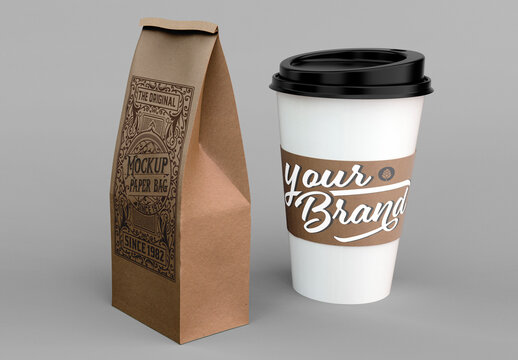 Coffee Cup and Paper Bag
