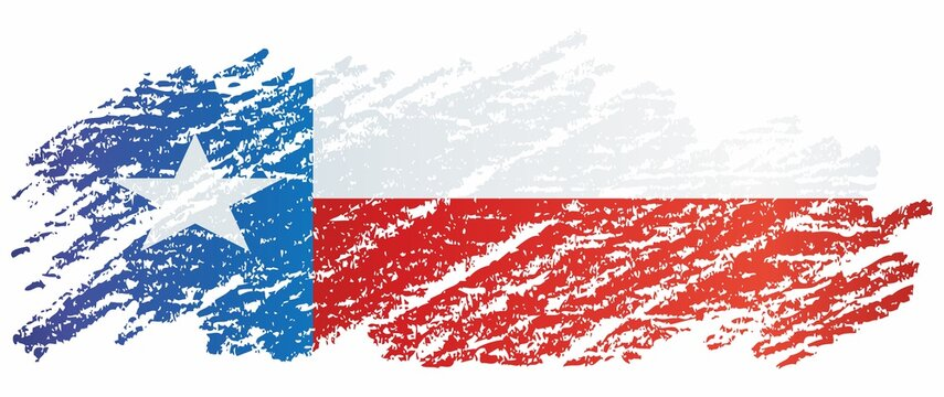 Flag of Texas, State of Texas. Bright, colorful vector illustration.
