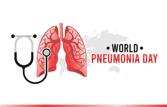 vector graphic of world pneumonia day good for world pneumonia day celebration. flat design. flyer design.flat illustration.