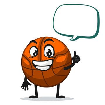 vector illustration of basket ball mascot or character