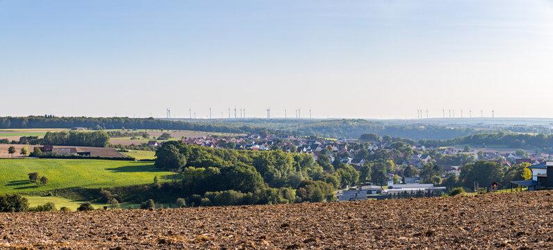 Panorama einer Landschaft in Norddeutschland