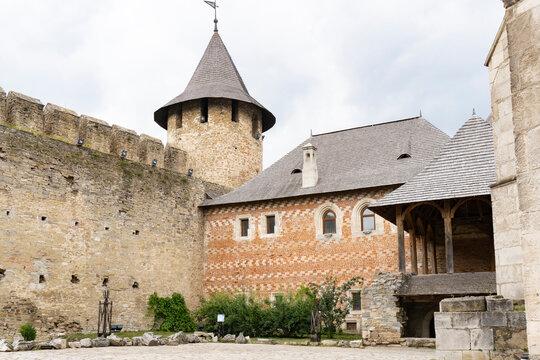 Medieval stone castle at Khotyn, Ukraine, famous ukranian touristic place, renovated.