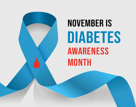 November Diabetes Awareness Month. Vector illustration