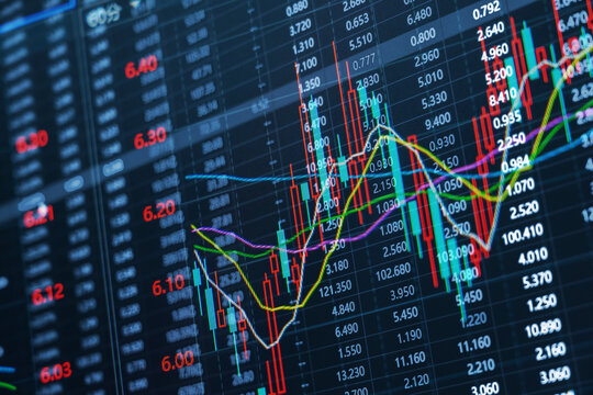 Stock securities trading data background
