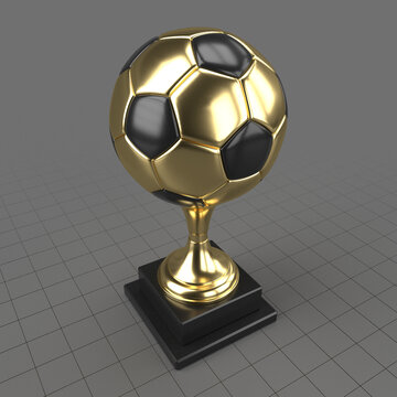 Soccer ball trophy