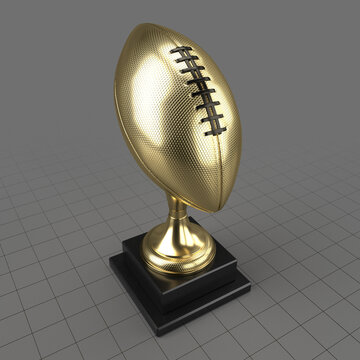 American football trophy