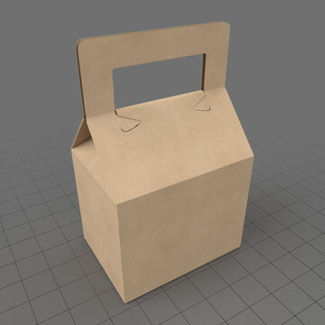 Tapered carrying box