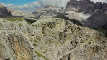 Wall Mural - Aerial Italian Dolomites Landscape. Northern Italy Alpine Region Near Misurina.