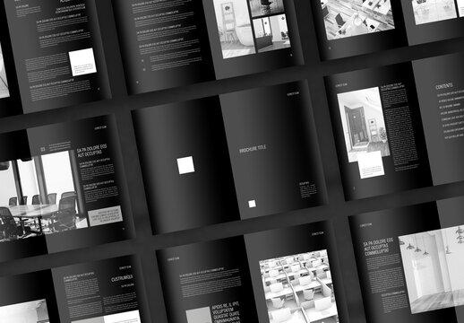 Interior Design Portfolio with Black Accents