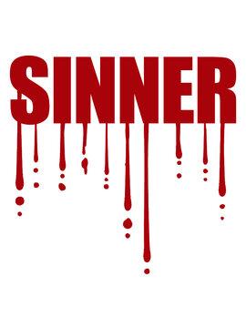 Sinner Blut Tropfen