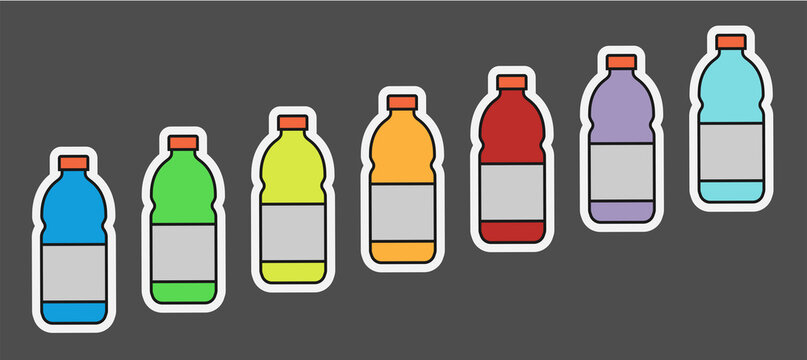 Vector Sport Drink Bottle icon Illustrations