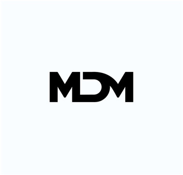 MDM company monogram. MDM Letters logo.