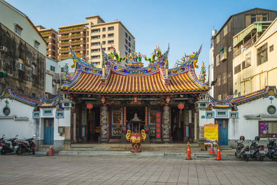 October 16, 2020: Taiwanfu Cheng Huang City God Temple in tainan, taiwan. It is a Taoist temple dedicated to City God Cheng Huang, who acts as a prosecutor in the district court of the underworld.