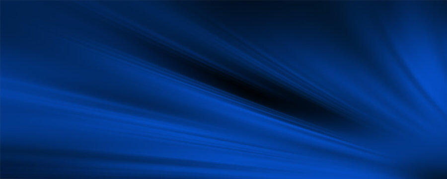 Soft neon blue wave abstract composition