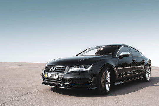 Kiev, Ukraine - July 20, 2020: Audi S7 against the background of clear sky