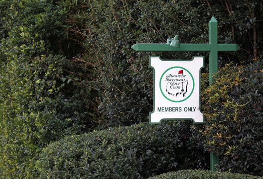 Augusta, GA, USA - October 16, 2020: An entrance to the Augusta National Golf Club in Augusta, Georgia. The Augusta National Golf Club is home to the annual Masters PGA tournament.