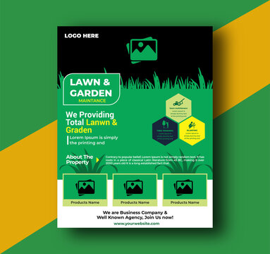 Lawn and Garden maintenance  Flyer Template