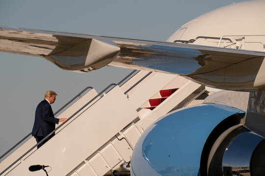 President Trump departs on campaign travel to Michigan and Wisconsin