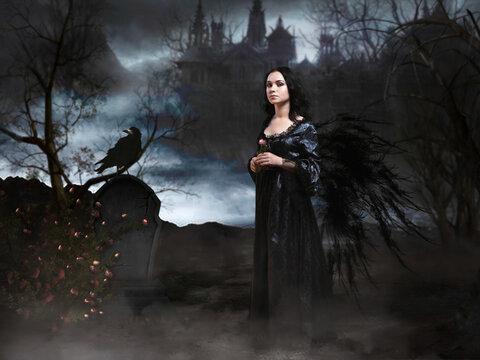 Mystical portrait of a girl
