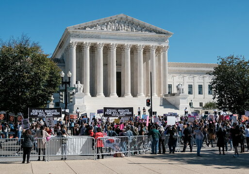 Women's March activists participate in a nationwide protest against U.S. President Donald Trump's decision to fill the seat on the Supreme Court.