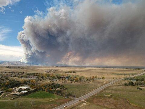 CalWood fire near Boulder