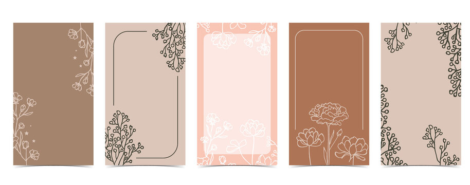 Cute background for social media with magnolia,lavender,flower