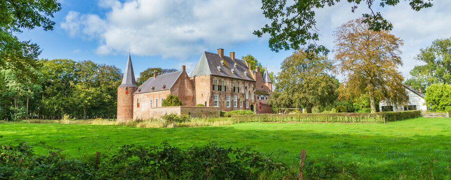 Medieval castle Hernen in Hernen, Gelderland in the Netherlands
