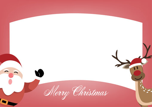 Christmas decoration greeting card template with blank sign.