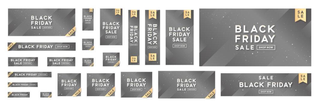 Standard size ad banner complete set for Black Friday