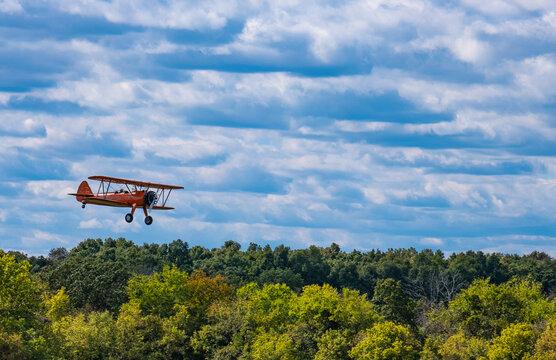 World War 1 Biplane Landing