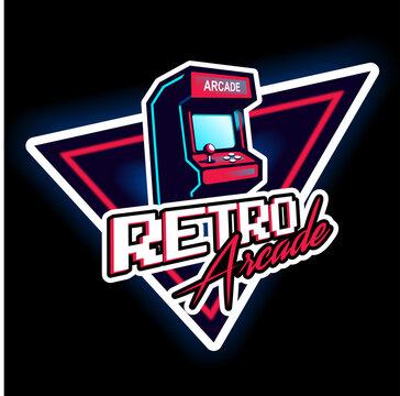 Retro arcade game vintage 80's design