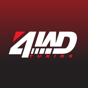 4 w d tuning service logo design for automotive service