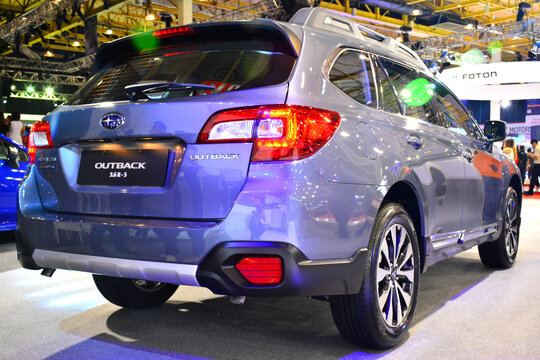 Subaru outback  at Manila International Auto Show in Pasay, Philippines.