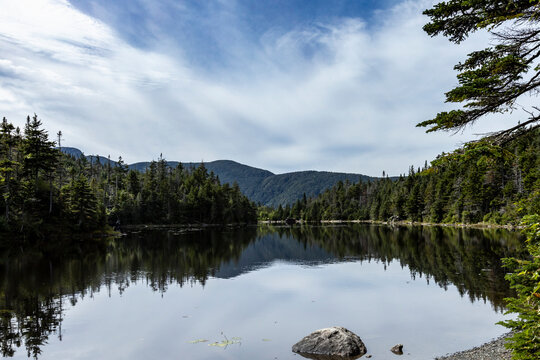 Mount Mansfield feflects on the waters of Sterling Pond