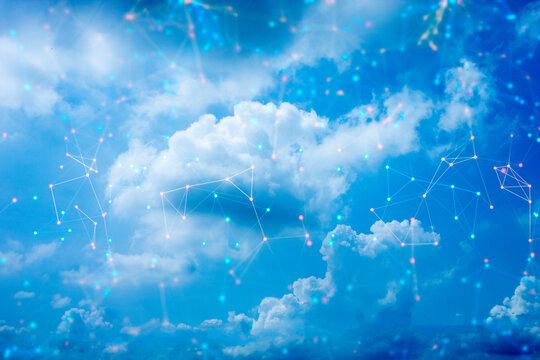 network web social online machine deep learning, data cloud storage digital technlogy, signal of satellite