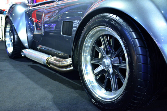 Shelby cobra wheel at Trans Sport Show in Pasay, Philippines