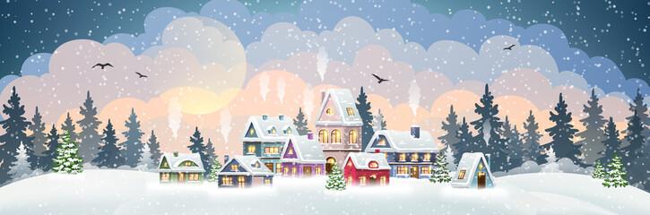 Christmas Village Houses Fotomurales