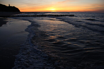 Zachód słońca nad morzem - Sunset