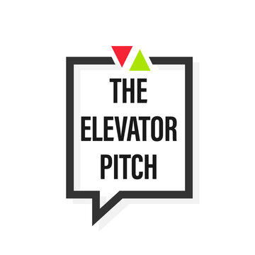 The elevator pitch design. Clipart image. speech bubble icon. Clipart image isolated on white background.